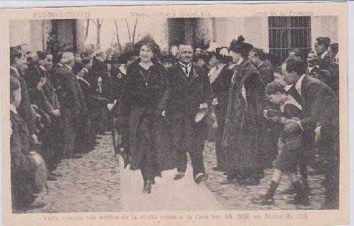 Postal Antigua - Old Postcard : Pedro Domecq - Vinos, Coñac y Grand Vin - Jerez de la Frontera. Vista tomada con motivo de la visita hecha a la Casa por SS.MM.en Marzo de 1915