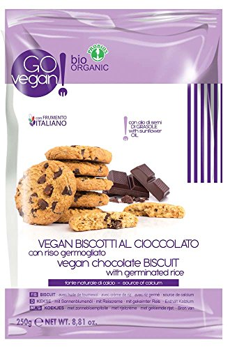 GO VEGAN - Vegan Schokoladenkekse mit Gekeimten Reis, 1er Pack (1 x 250 g)