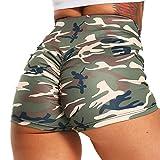 FITTOO Pantalones Cortos Leggings Mujer Mallas Yoga Alta Cintura Elásticos #2 Camuflaje M
