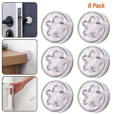 Door Stopper Wall - 4 Pack Door Bumper for Door Handle to Protecting Wall 3M Self-Adhesive Sticker Silicone Wall Guard Doorknob