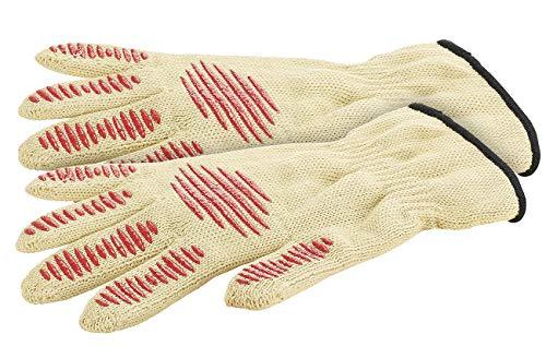 Rosenstein & Söhne Grillhandschuhe: 2er-Set Sicherheits-Handschuh, Hitze- & Schnittschutz, Antirutsch-Pads (Schnittschutzhandschuh)