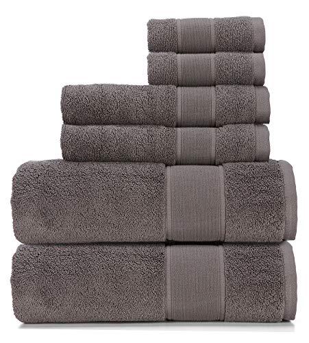 Ralph Lauren Sanders Handtuch-Set, 6-teilig, True Charcoal – 2 Badetücher, 2 Handtücher, 2 Waschlappen