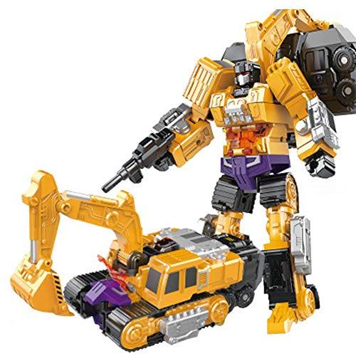 Groust Devastator, Transformator Roboter-Auto, Deformation Autospielzeug Kreative Kombination Roboter Transformer Truck Transform Auto Spielzeug Serie 6 In 1, Kunststoff-Roboter-Puzzle, Für Kinder