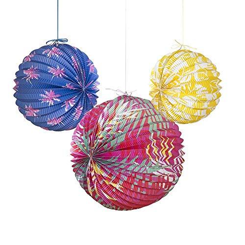 Talking Tables FST4-PAPERLANTERN Lanterne de Papier, 3pk Multicolore, 34,5 x 20,5 x 34,5 cm