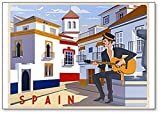 Summer Day In Small Town, Andalusien, Spanien Illustration.