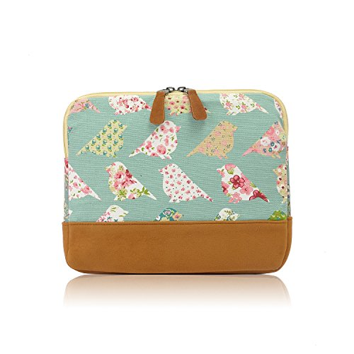 The Olive House Womens Vintage Birds and Floral Ipad Tablet Case Cover