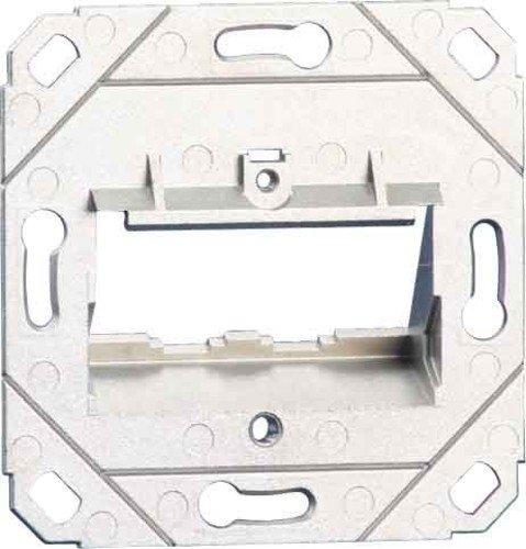 Metz 1309151200-E BTR Datenanschlussdose leer für 2xE-DATModul Cat.6A 8/8(8) UP0, Silber