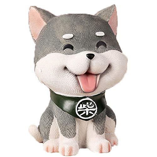 Kassa MYKK Shiba Inu Puppy Hars Beeldje Woninginrichting Decoratieve Ornamenten Display Student Geschenken 14 * 10cm Grijs