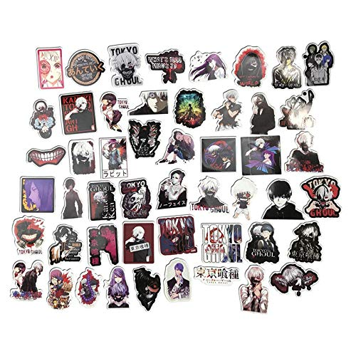 50 Stks Anime Tokyo Ghoul Stijl Graffiti Stickers Kids Speelgoed Voor Moto Auto & Koffer Cool Laptop Stickers Skateboard Sticker Geschenken