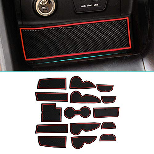 Custom Fit for Mitsubishi Lancer EX 2010-2015 Car Door Console Liner Door Groove Slot Mat Interior Cup Cushion Accessories Car-Styling 8pcs Red