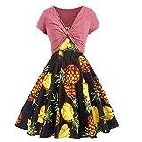 Women Print Dress Summer Sling Long Dress Solid Color Cardigan 2 Piece Set Watermelon Red