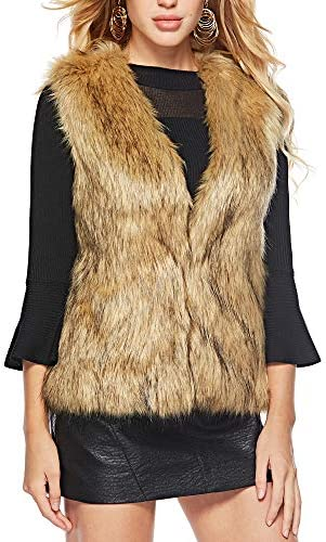 Caracilia Fashion Women Faux Fur Waistcoat Short Vest Jacket Coat Sleeveless Outwear M CAFB1 product image