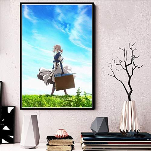 ganlanshu Anime-Kunstplakate, Wanddekorationen, Leinwandbilder und -drucke,Rahmenlose Malerei,40X60cm