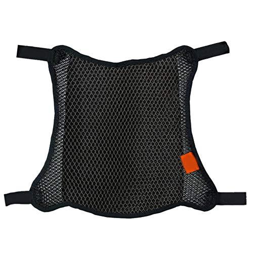 Motorrad-Sitzbezug, universal, langlebig, rutschfest, 3D-Netzgewebe, atmungsaktiv, Schutzschirm, Stoßdämpfung, doppellagiges Zubehör, Wärmeisolierung, (L)