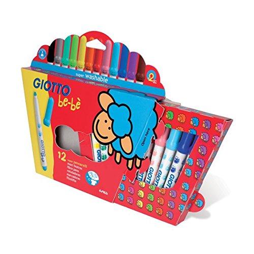 Fila - estuche de 12 rotuladores giotto be-be. articulo de la linea especial. niños 0-3 años.