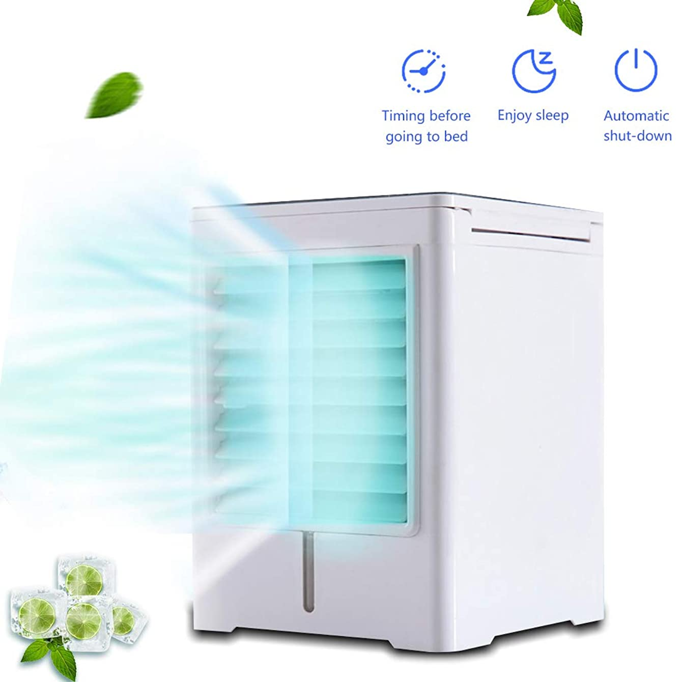 K-Flame Mini Air Conditioner Portable Cooler USB Fan Mobile 3 in 1 Humidifier 3 Speeds Cooler Purifier for Office Home Travel