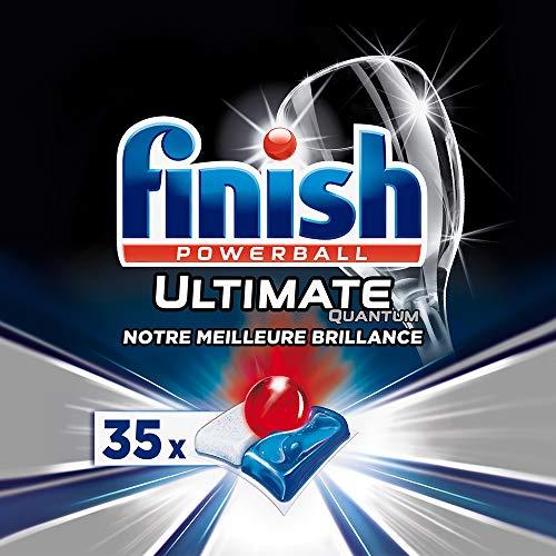 Finish Pastilles Lave-Vaisselle Powerball Quantum Ultimate - 35 Tablettes Lave-Vaisselle