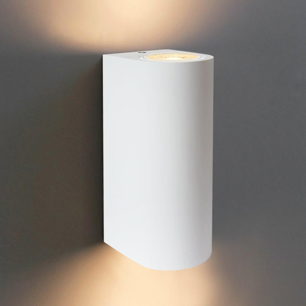 Modern Up Down Indoor White Ceramic Wall Light Fixture GU25 B825