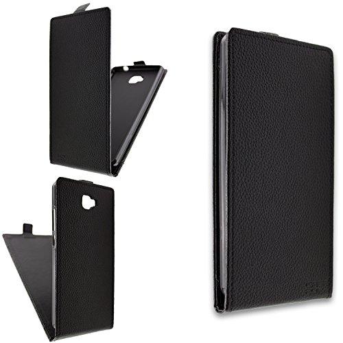 caseroxx Flip Cover für Archos 55 Cobalt Plus, Tasche (Flip Cover in schwarz)