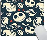 Mouse pad,Nightmare Before Christmas Oh What Joy Pattern Waterproof Anime Gaming Gift Mouse Pad Desk Accessories Non-Slip Rubber Mousepad for Laptop Wireless Mouse