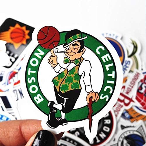 30 NBA Stickers Basketball Team Logo Set. All 30 Teams. Plus 10 More. Die Cut. Lakers Bulls Heat Warriors Celtics Cavaliers Thunder Spurs Knicks Mavericks Clippers Rockets Pacers Nets Magic Pelicans
