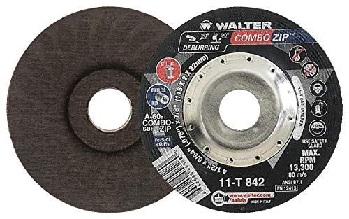 Walter ZIP WHEEL Cutoff Wheel [Pack of 25] - Type 27 Aluminum Oxide Wheel with Integrated Rib Design. Abrasive Cutting Wheels