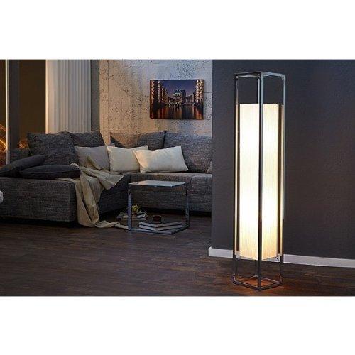 DuNord CUBO - Lampada a Stelo, 125 cm, a parallelepipedo, Colore: Bianco