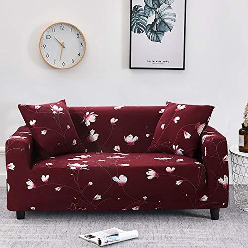 WXQY Fundas con Estampado Floral Funda de sofá elástica elástica Funda de sofá con protección para Mascotas Funda de sofá con Esquina en Forma de L Funda de sofá con Todo Incluido A11 4 plazas