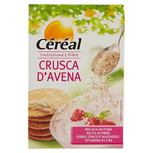Céréal Crusca D'Avena, avena istantanea, mix avena colazione o per pancake, ricca in fibre formato...