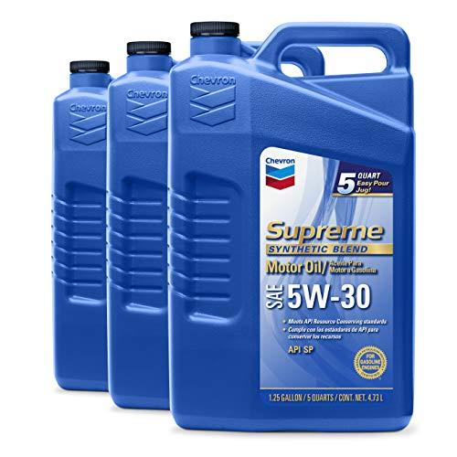 Chevron Supreme (220013533-3PK 5W-30 Motor Oil - 5 Quart (Pack of 3)