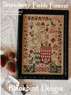 Strawberry Fields Forever Cross Stitch Chart and Free Embellishment