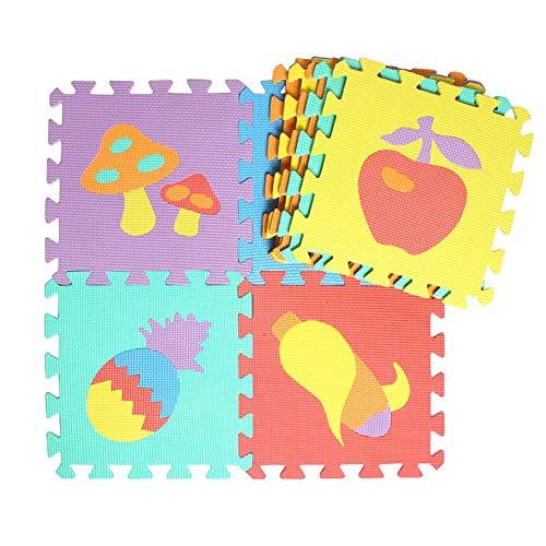 Kinderteppich Spielmatte Lernteppich Puzzlematte, Kinderteppich Teppich Split Joint EVA Babyspielmatte Indoor Soft Aktivität Puzzle-Matten.