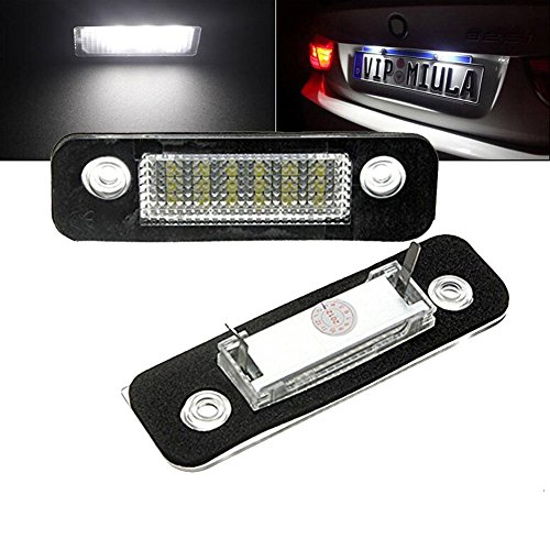 TUINCYN Mondeo MK2 18SMD Erreur d'immatriculation de la plaque d'immatriculation Lampe de conduite Super Blanc 12V faisceau LED Lampe de conduite (2-Pack).