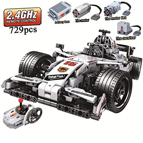 Modbrix Bausteine 2,4 Ghz RC Auto F1 mit Power Funktion, Maßstab 1:12, 729 Teile