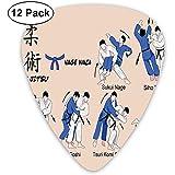 Jiu Jitsu Artes Marciales Técnicas de Defensa Deporte Práctica Aikido Karate Judo Blush Azul (paquete de 12)