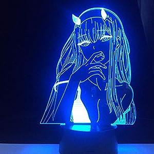 3D led Lamps Night Light for Kids Anime Lamp Compulsive Gambler Gift for Bedroom Decor Nightlight Cute Japanese Waifu Led Night Light Kids Night Light 3D Night Light for Girls