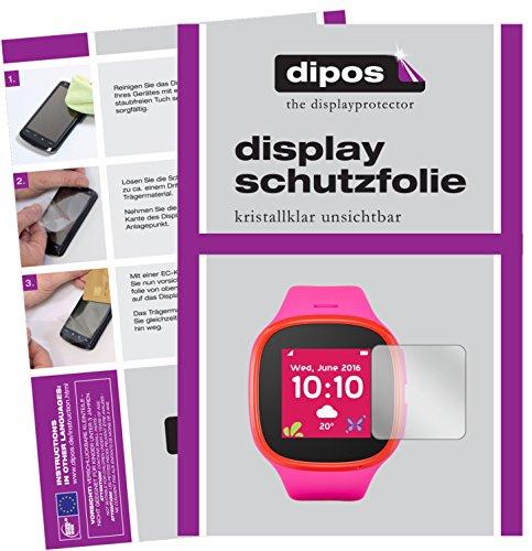 dipos I 6X Schutzfolie klar kompatibel mit Alcatel Movetime Family Watch MT30 Folie Bildschirmschutzfolie