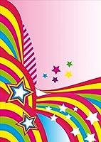 igsticker ポスター ウォールステッカー シール式ステッカー 飾り 1030×1456㎜ B0 写真 フォト 壁 インテリア おしゃれ 剥がせる wall sticker poster 005823 ユニーク カラフル レインボー 星