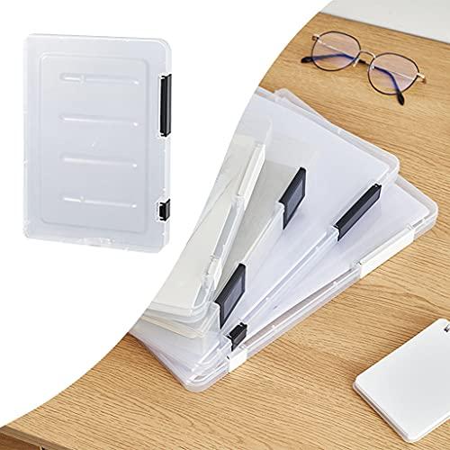 Sharplace 2pcs File Case Doble Hebilla Papel Protector Organizadores Escuela