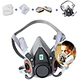 7 in 1 Half Facepiece Reusable 6200 Respirator Suit for 6200 Gas Spray Painting Protection Respirator (1-PACK, Medium)