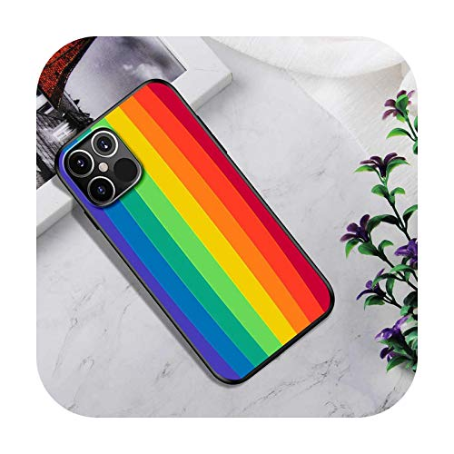 Phone Case For 12 Mini 11 Pro SE 2020 X XS Max XR 7 8 6 6S Plus Silicone Soft Back Cover Coque Capa Cute Rainbow Fundas-B02-for iPhone 6S Plus