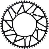 Pathpark 130BCD Bike Chainring Ultralight Black Narrow Wide Alloy Bicycle Chainwheel CNC Process Hollow Bike Chain Ring (58T)