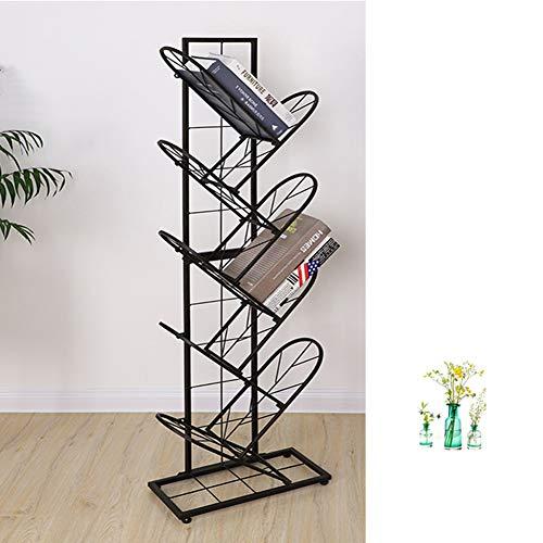 XXLLQ Bücherregal Raumteiler Standregal Büroregal Kunst aus Eisen Wandregal CD DVD Regal Baum-Form Regal modern Dekoregal 40.5 * 22 * 127cm,2