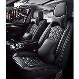 Waterproof Cuero De La PU Funda Asiento Coche Cojines Juego Completo (5 Asientos), Universal para BMW 1 3 5 7 Series X1 / X3 / X5 / X6 (Color : Black Luxury)