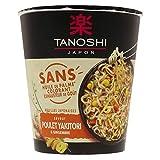 Tanoshi Cup Nouilles japonaises instantanées - Saveur Poulet Yakitori et Gingembre - 64 g...