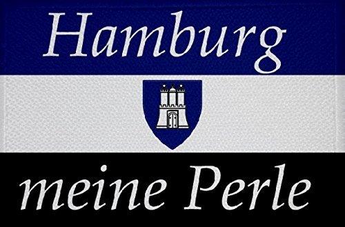 U24 Aufnäher Hamburg Meine Perle Fahne Flagge Aufbügler Patch 9 x 6 cm