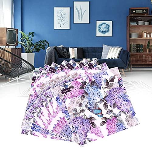 VIFERR Azulejos Pegatina 10 Piezas pájaro Flores patrón Impermeable Azulejos Pegatina Suelo Pared calcomanías para decoración del hogar