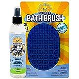 Bodhi Dog Bitter 2 in 1 No Chew 8oz & Hot Spot Spray + Grooming Shampoo Brush Bundle