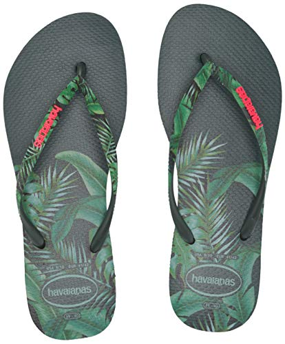Havaianas Women's Slim Sensation Sandal, Olive Green, 7-8