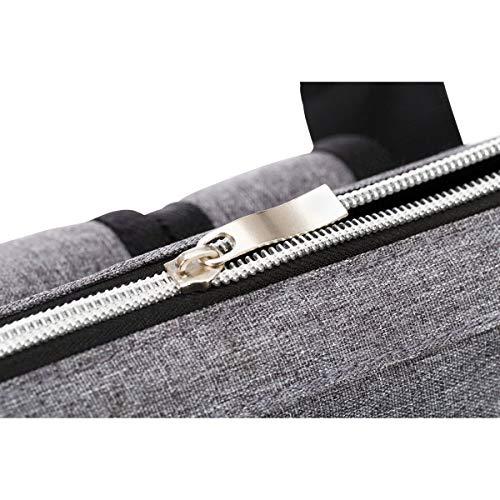 Wickelrucksack von Fillikid in Grau weit geöffnet